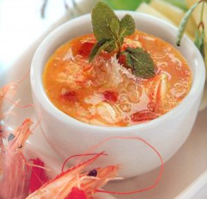 Lobster soup-bird's nest