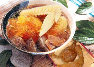 Stewed chicken-bird's nest-sea cucumber