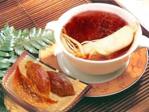 Stewed ginseng with blood nest